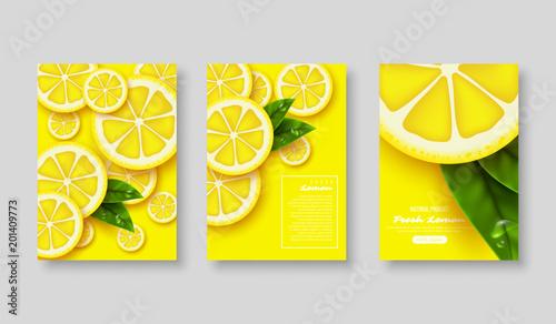 Fotografie, Obraz  Lemon poster set