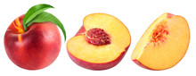 Peach Fruits Isolated