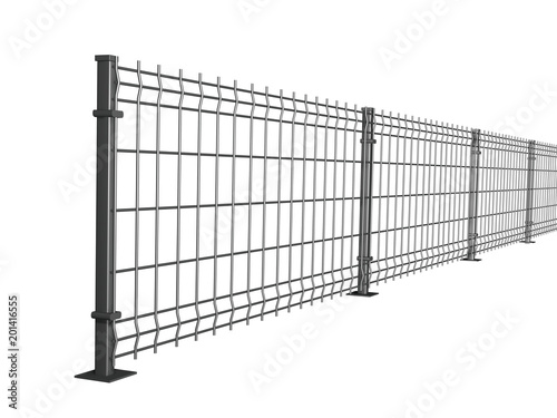 grating wire industrial fence panels, grey pvc metal fence panel 3d ...