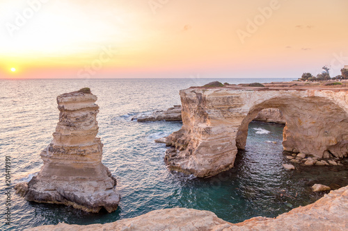 Italy, Santo Andrea cliffs in Puglia Canvas Print