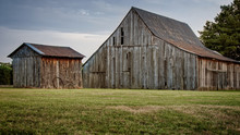 Wooden Barn And Shed