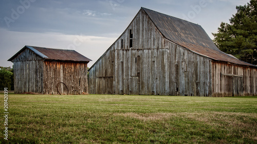Fotografie, Obraz Wooden barn and shed