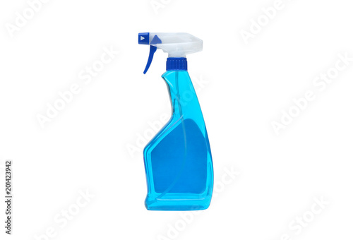 Photo  A glass cleaner spray isolated on white