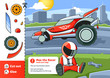 Cut and Glue is an educational game for kids. Help Max the Racer Fix his Car