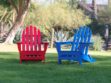 Red And Blue Adirondack Chairs...