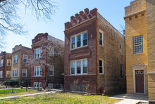 Old Brick Chicago Buildings On...