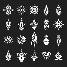 Vector Set Of Hand Drawn Decor...