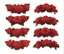 Red Rose Half-oval Crowns And ...