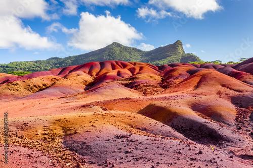 Photo terres de couleurs de Chamarel, île Maurice