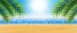 canvas print picture - Hintergrund Strand Sonne