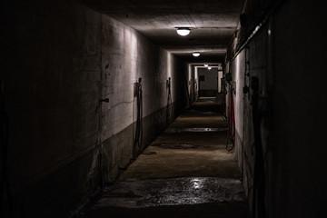 Scary dark tunnel