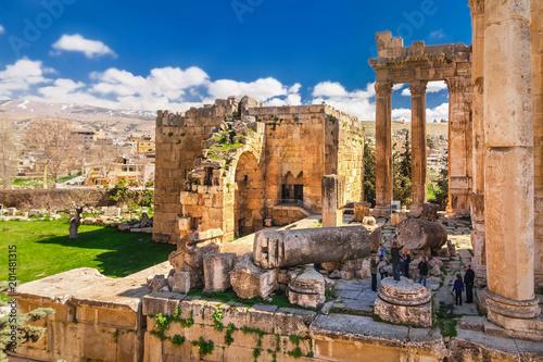 Foto  The Temple of Jupiter (Roman Heliopolis) in Baalbek, Lebanon