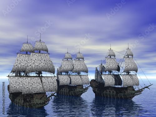 Segelschiffe auf den Weltmeeren Wallpaper Mural