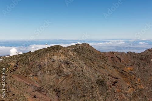 Spoed Foto op Canvas Blauwe hemel The view of the National Park Caldera de Taburiente, La Palma island.
