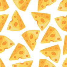 Cheese Slice Vector Seamless P...