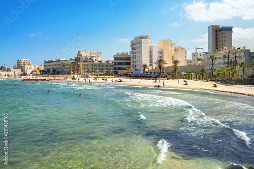 Poster Tunesië Sousse beach. Tunisia, North Africa