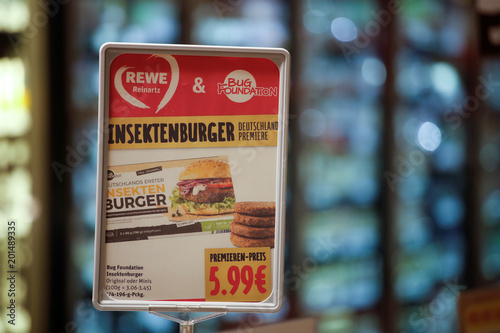 detailed look 65ff6 903e2 A price tag for a package of insect burgers made of buffalo ...
