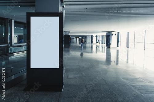 Fotografía  Digital media blank black and white screen modern panel,