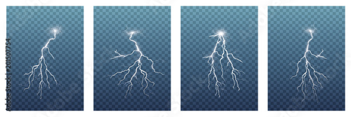 A large set of lightning Wallpaper Mural