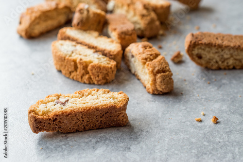 Biscotti / Cantuccini Cookie Biscuits with Almonds / Shortbread. Fototapeta