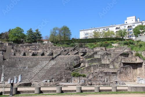 Foto op Aluminium Rudnes Théâtre gallo-romain de Lyon