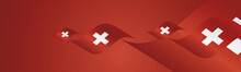 Swiss National Day Waving Flag...