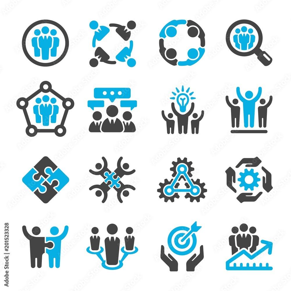 Fototapeta teamwork,partnership icon set