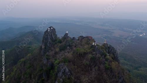 Keuken foto achterwand Grijze traf. Aerial view in Wat Chalermprakiat Temple Lampang Thailand