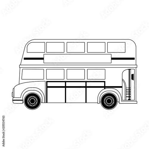 London bus isolated vector illustration graphic design Canvas Print