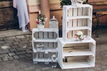 Rustic Wedding Photo Zone.  Wh...