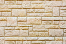 Background Of Natural Brown Stone Tiles, Marble Brick Wall