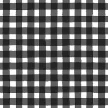Vintage Black And White Checkered Seamless Pattern