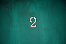 Number 2 On Old Motel Door