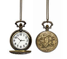 Pocket Watch Isolated On White...