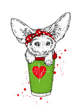 Fox Fennec  And A Glass Of Cof...