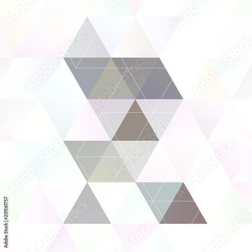 Vászonkép  Scandinavian style abstract triangular art