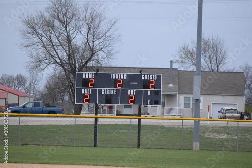 Photo  Baseball Scoreboard