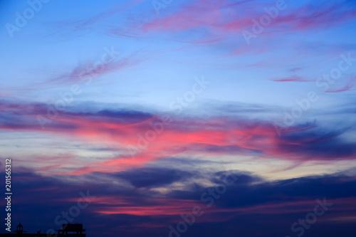 Fotobehang Pier Magic Unreal Colorful Sky at Sunrise