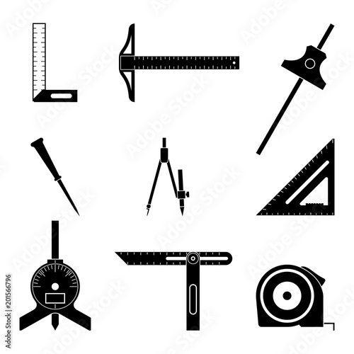 Set Of Various Types Of Measuring Tools Buy This Stock Vector And