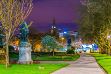 Night View Of Garden Of Saint John In Liverpool, England