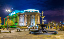 Night View Of The Saint George Hall In Liverpool, England