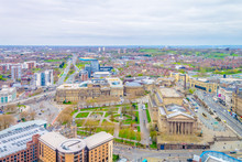 Aerial View Of Liverpool Including Saint George Hall, Walker Art Gallery And The World Museum, England