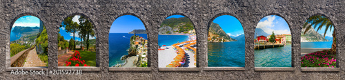 Capri, beautiful and famous island in the Mediterranean Sea Coast, Naples Fototapeta
