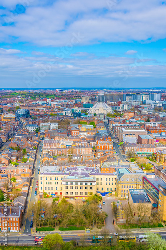 Foto op Canvas Milan Aerial view of Liverpool including the metropolitan cathedral, England