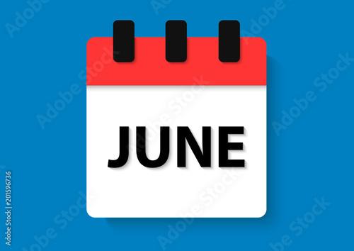 Obraz june calendar - fototapety do salonu