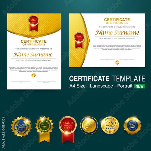 Beautiful Certificate Template Design With Best Award Symbol Buy