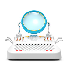 Typewriter Retro Futuristic