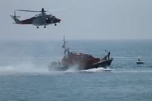 Coastguard Helicopter And RNLI...