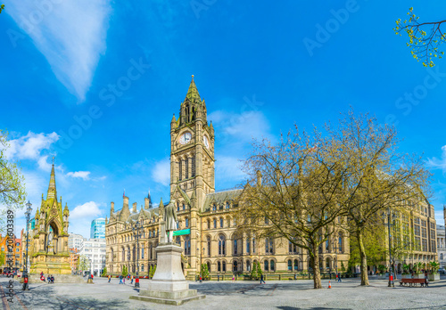 View of the town hall in Manchester, England Wallpaper Mural