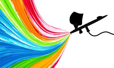 spray gun with paint